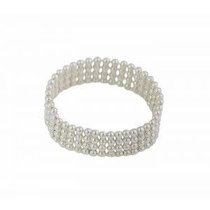 Four Row Silver Bead Ring