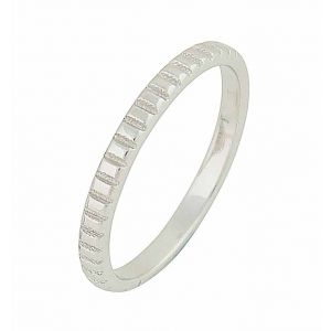Cube Pattern Sterling Silver Stacking Ring