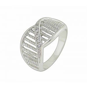 Pillars of Sparkle Sterling Silver Ring