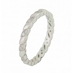 Beauteous Oval Silver Stacking Ring