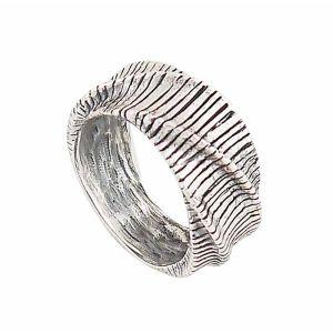 Undulate Rustic Silver Ring