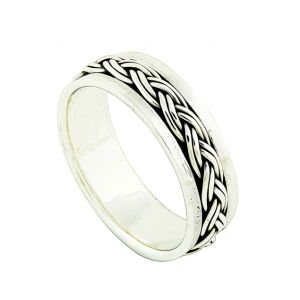 Silver Plaited spinner Ring