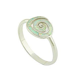 White Opal Coil Ring