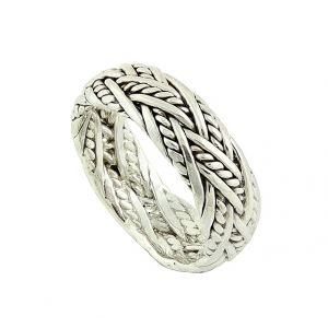 Crossover Plaits Silver Ring