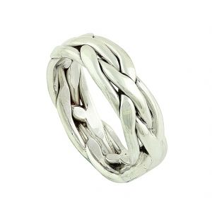 Weaving Plait Silver Ring