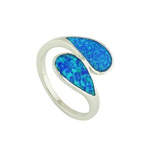 Blue Opal Togetherness Ring