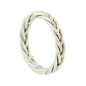 Silver Twine Band Ring