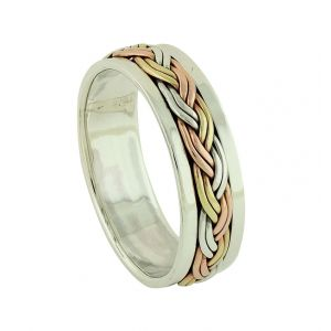 Trio Metal Tress Spinner Ring