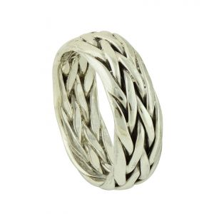 Pearl Knit Silver Ring