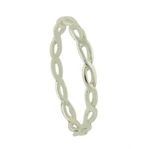 Silver Doodle Stacking Ring