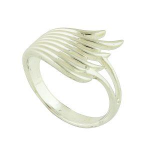 Flickered Silver Ring