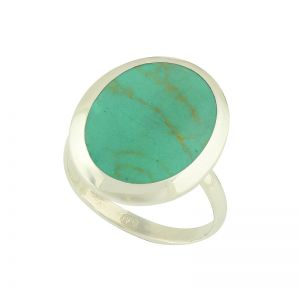 Turquoise Solitaire Silver Ring