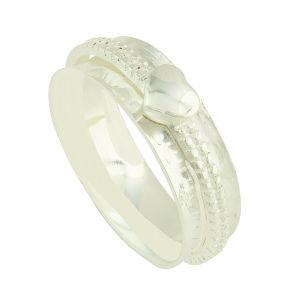 Petite Heart Silver Spinner Ring