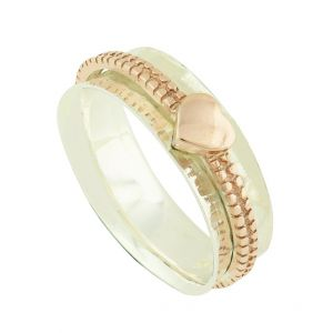 Petite Heart Rose Gold Plated Spinner Ring