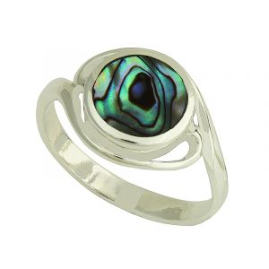 Abalone Character Silver Ring
