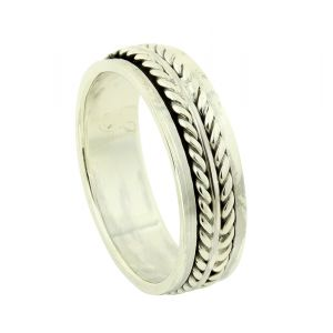 Fleeting Feather Spinner Ring