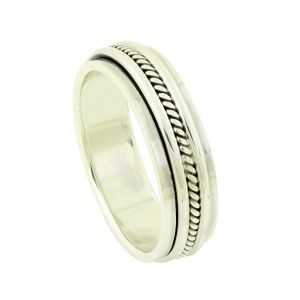 Textured Layer Spinner Ring