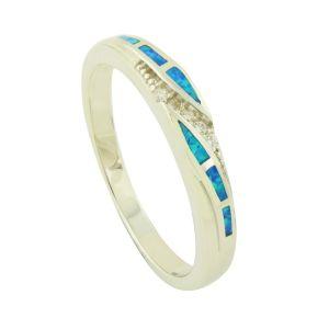 Asymmetric Blue Opal Ring