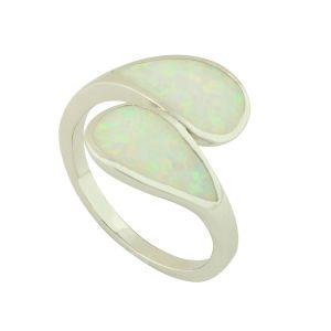 Blue Opal Togetherness Ring