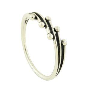 Ballpoint Silver Ring