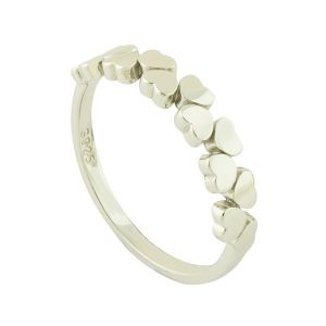 Blooming Hearts Silver Ring