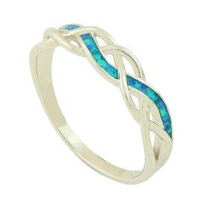 Blue Opal Ava Ring