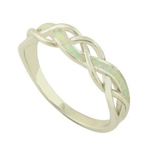 White Opal Ava Ring
