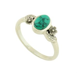 Turquoise Floral Ring