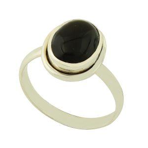 Black Onyx Penny Ring