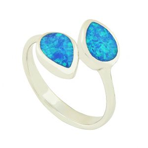 Blue Opal Escapade Ring