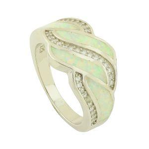 White Opal Interesa Ring
