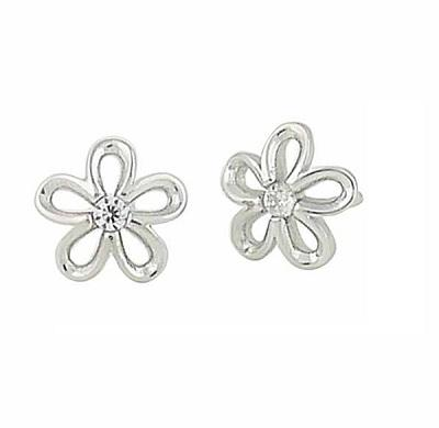 Blossom in Floral Silver Stud Earrings