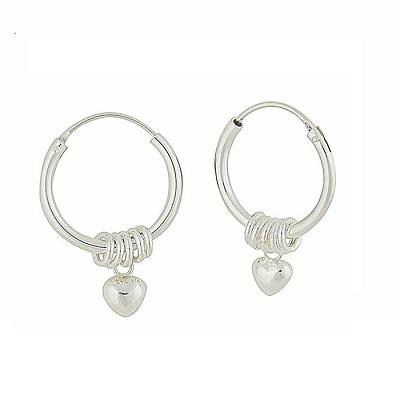 Be Charmed by Our Silver Hoop Earrings